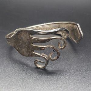 Vintage Handcrafted Fork Bracelet Ah-Shakiek